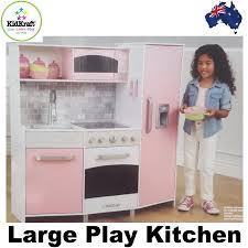 kidkraft large play wooden kitchen pretend play cooking toy set ebay