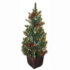 general foam 4 ft pre lit pine artificial tree with