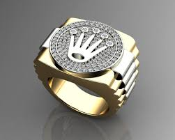 pave mens ring diamond and ruby 3d printable gold crown ring with diamonds image collections jewelry design
