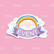 free sticker label templates event template label cute sticker with rainbow stock vector art event template label cute sticker with rainbow royalty free stock vector art