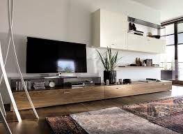 contemporary tv wall unit walnut glass glossy lacquered wood