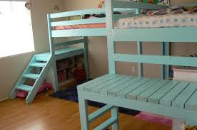 Diy Bunk Beds With Stairs How To Build A Loft Bed With Stairs Diy Projects For Everyone
