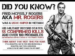 urban legends mr rogers was a marine sniper youtube