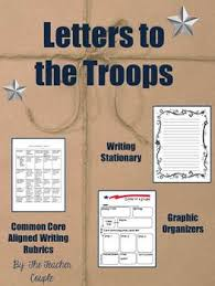 letters to the troops contains graphic organizers rubrics
