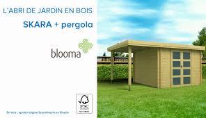 Cabanon De Jardin Castorama by Abri De Jardin En Bois Pergola Skara Blooma 675978 Castorama