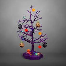 Purple Led Halloween Lights Amazon Com Avon Halloween Led Sparkle Tree With Cats Pumpkins