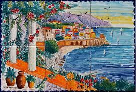 Ceramic Tile Mural Backsplash by Ceramic Tile Murals Online Store Landscapes Backsplash Accent