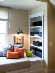 photos hgtv window seat reading nook with white built in shelves