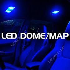 bright blue color 2x 6 12v led car interior dome