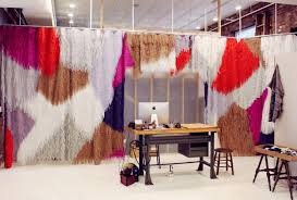 fringe curtain wall by confetti system for creatures of comfort nyc