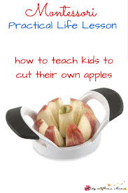 How To Dispose Of Kitchen Knives Kids Kitchen Apple Cutting Practical Life Lesson Sugar Spice