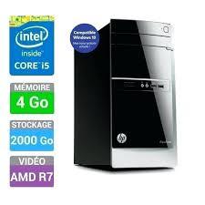 ordinateur bureau windows 7 acheter pc bureau hp pavilion pc de bureau 500 506nf achat pc