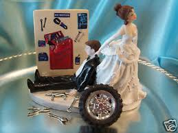 mechanic wedding cake topper grease monkey auto wedding cake topper box tool mechanic