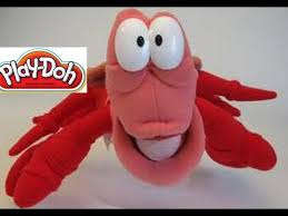 play doh sebastian crab mermaid