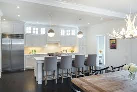 stools for kitchen islands grey kitchen walls with white cabinets white leather bar stools