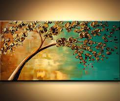painting yellow flowering tree painting 6113