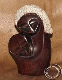 Zimbabwe Soapstone Carvings African Shona Soapstone Embracing Abstract Mother And Child