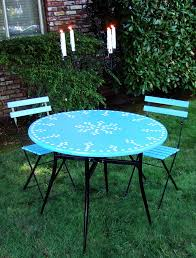 Outdoor Bistro Table Outdoor Bistro Table And Café Chairs Crafty Nest