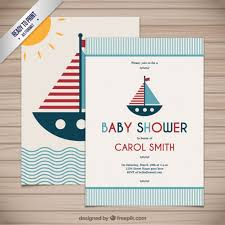 nautical design baby baby shower card in nautical style vector free download