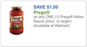 prego coupon 1 off any one prego sauce 24 oz or larger