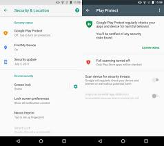 android protection how to enable play protect on android
