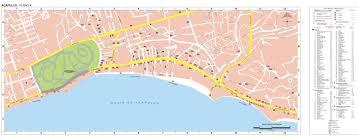 Acapulco Mexico Map by Acapulco Map Guerrero Mexico
