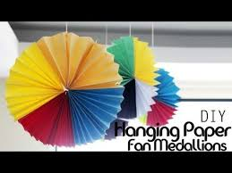 hanging paper fans diy hanging paper fan medallions