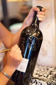 wine bottle guestbook wine bottle guest book