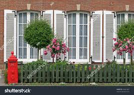 english style house english style house facade red post stock photo 33441847