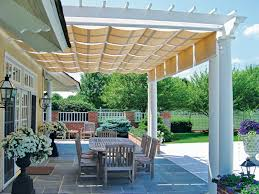 covered pergola creates perfect atmosphere for relaxing