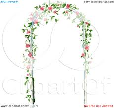 royalty free rf clipart illustration of a pink floral vine