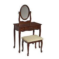 queen anne style bedroom furniture queen anne style cherry finish wood vanity set