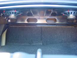 mustang trunk space 2010 2014 ford mustang coupe car audio profile