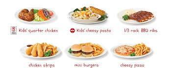 choose a menu kid menu and menu