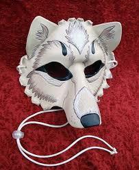 Wolf Mask Wolf Mask Paper Mache Lykos Wolf Mask Papier Mache Wolf Head