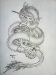 dark dragon skull tattoo eye by lechadias on deviantart