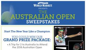 cost plus world market australian open sweepstakes sun sweeps