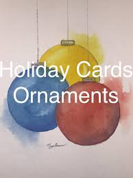how to paint ornaments in watercolour watercolor christmas card