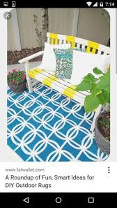 Painting An Outdoor Rug Paint A Rug For Much Less Than You Can Buy It It Will Be Perfect