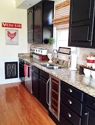 Black Paint For Kitchen Cabinets Painted Kitchen Cabinets Makeover Before After At Home With