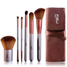 hang qiao 6pcs cosmetic makeup brush set with bag