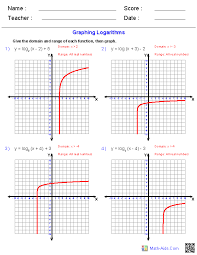 math function worksheets algebra 2 worksheets exponential and logarithmic functions