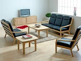 sofa fabulous simple wooden sofa sets for living room set