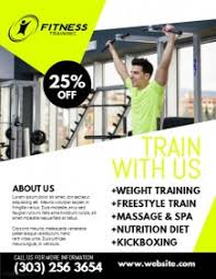 fitness poster templates postermywall