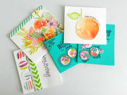 water color cards what to do with practice watercolor paintings