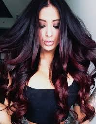 ambry on black hair black and burgundy ombre hair colors hair color trends 2017 black