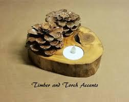 pine cone tea light holder wood slice tea light holder wood tea light holder rustic tea