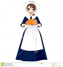 thanksgiving bonnet apron stock vector image 73112862