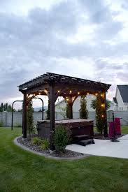 heavenly haven diy pergola over tub with a timber frame