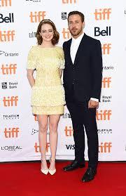 ryan gosling emma stone couple film pics ryan gosling emma stone at tiff together la la land red